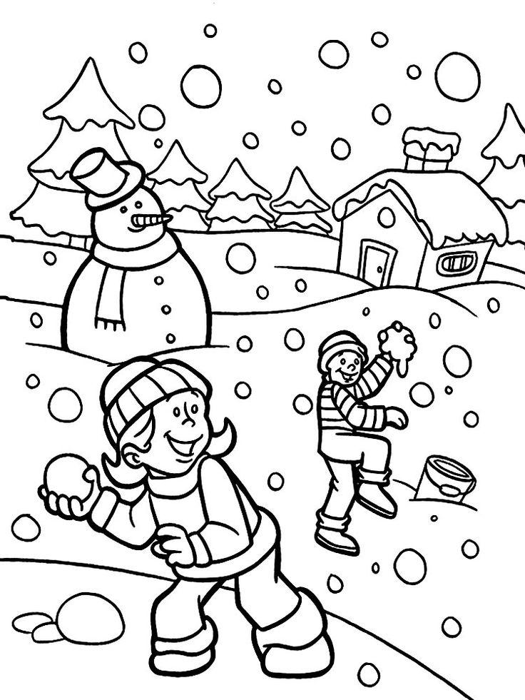 Картинки раскраски времена года для детей