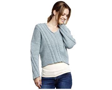 pullover snoning skrå strikkeopskrift download strikkepinden.com