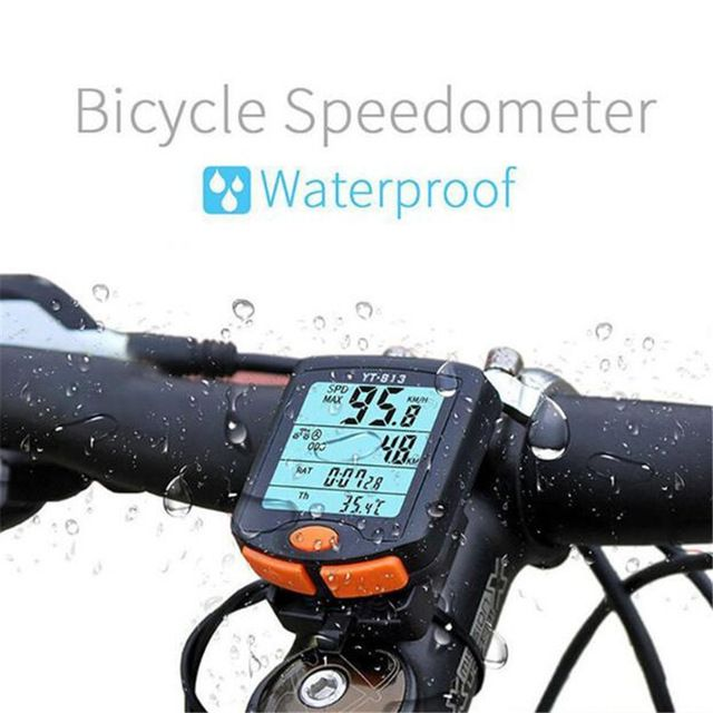 Bicycle Waterproof Wireless Computer Stopwatch Thermometer