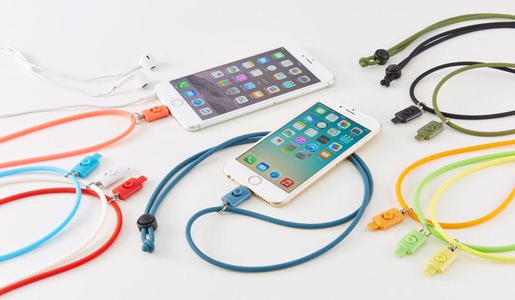 肌に優しく、埃が付きづらいシリコン素材のネックストラップ。iPhone/iPodの操作性と安全性が格段に向上