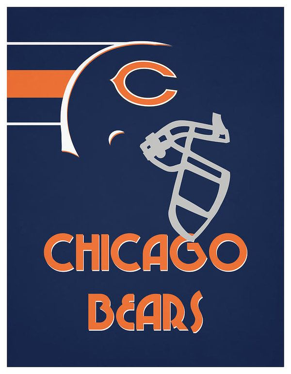 Pin By Yahspoet Yahu The Poetic Words On Nfl Team Vintage Posters Chicago Bears Chicago Bears Wallpaper Football Logo
