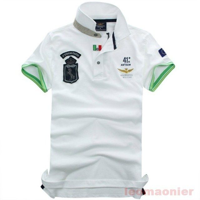 Free Shipping Quality Assurance Slim Fit Shirts For Men Aeronautica militare Air Force One Brand  T Shirt Polo Sleeve Shirt  $21.80