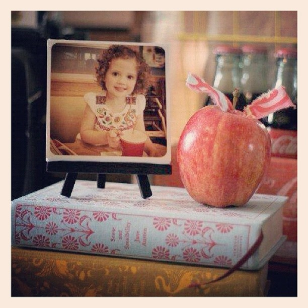 IGer @leslielm mounted her print on a 4x4 canvas and displayed it on this adorable easel from Michael's. We're not sure which is cuter, the little easel or her daughter!
