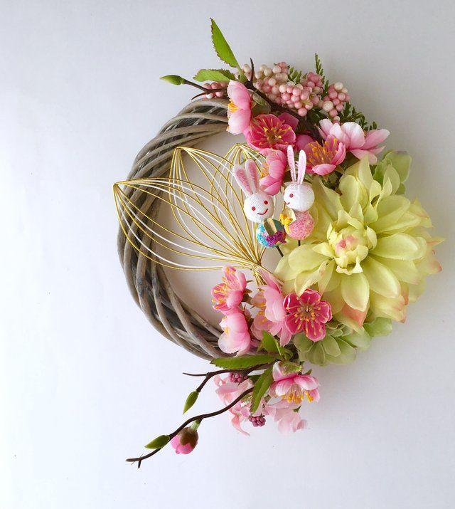 再販)お雛様 春のリース - kamiyu