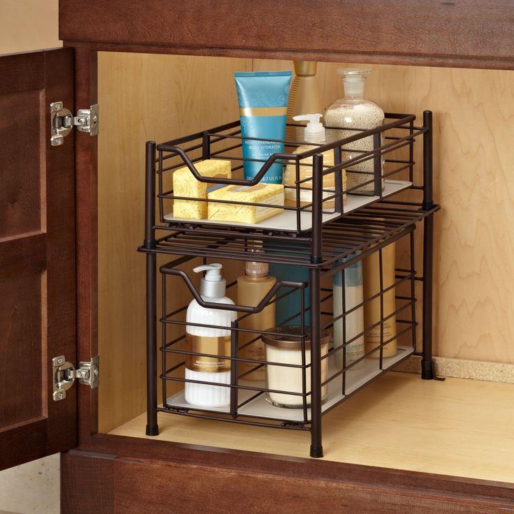 Best Organize Under Sink Images On Pinterest Bathroom Ideas