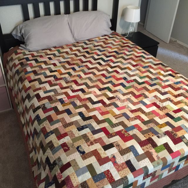 Finish It Up Friday ~ Scrappy Fence Rail!   KatyQuilts