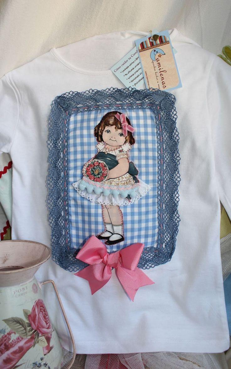 Van saliendo del horno nuevas camisetas de muñecas recortables...a cual más bonita!!! Ya sabéis que estas lindas pequeñajas admiten muchas c...