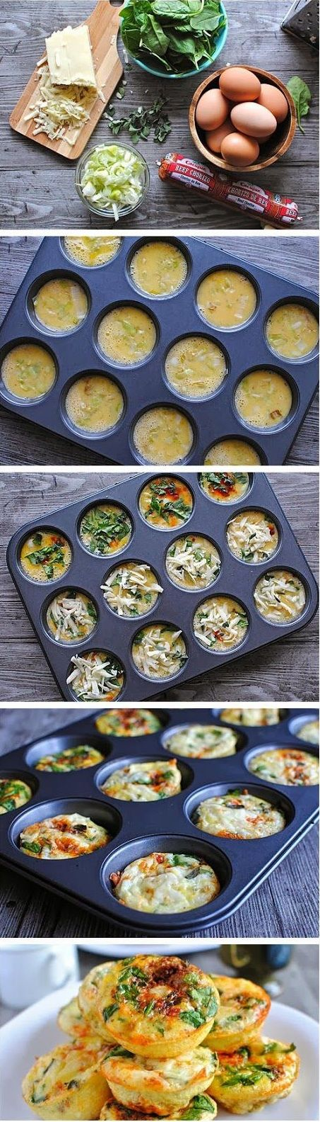 Mini Frittata Brunch Bar Ingredients 10 large eggs 1/2 cup cooked Mexican chorizo 1 cup spinach, finely chopped 1 leek, sliced lengthwise (green parts discarded) and thinly sliced into half moons 1…