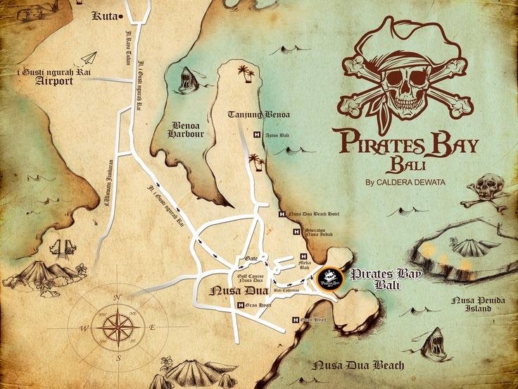 The Pirates Bay Nusa Dua Bali - Map 1