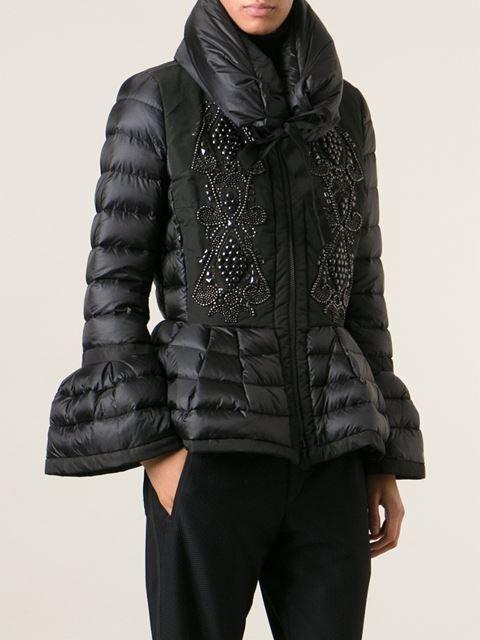 MONCLER beaded padded jacket: