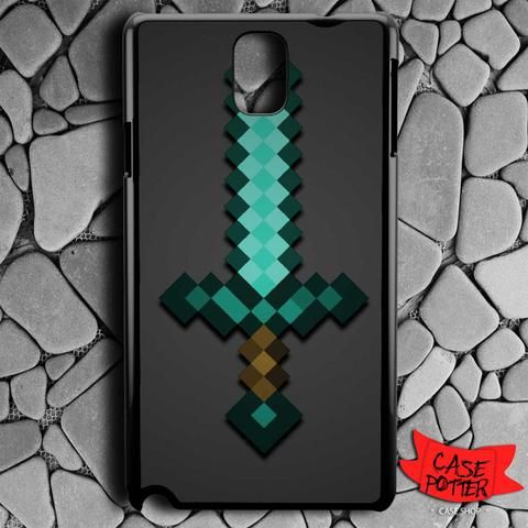 Minecraft Green Mint Sword Samsung Galaxy Note 3 Black Case