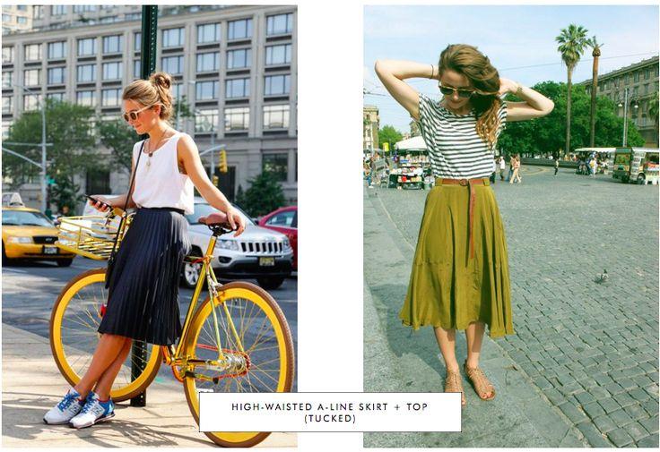 midi skirt + tucked top