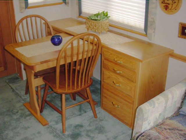 Workstation dining table combo mod my rv interior