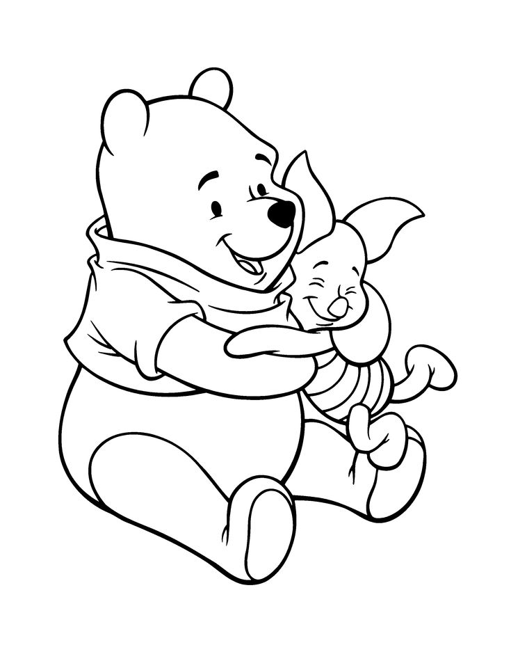 241 best tigger & pooh images on pinterest | pooh bear, eeyore and ... - Pooh Bear Coloring Pages Birthday