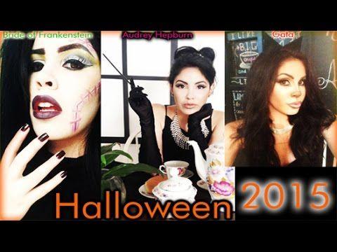 Maquillaje Halloween 2015: Novia de Frankenstein, Gata Sexy y Audrey Hep...