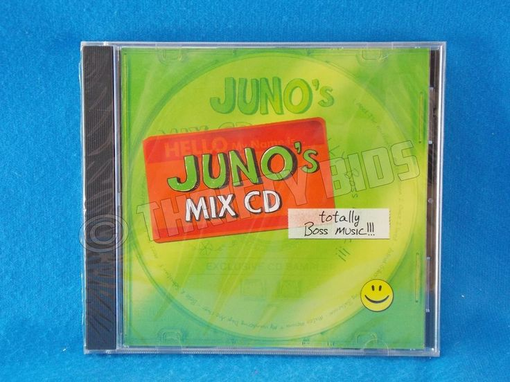 Juno's Mix CD Sampler Totally Boss Music from Juno Motion Picture 2008 Best New #FilmScoreSoundtrack