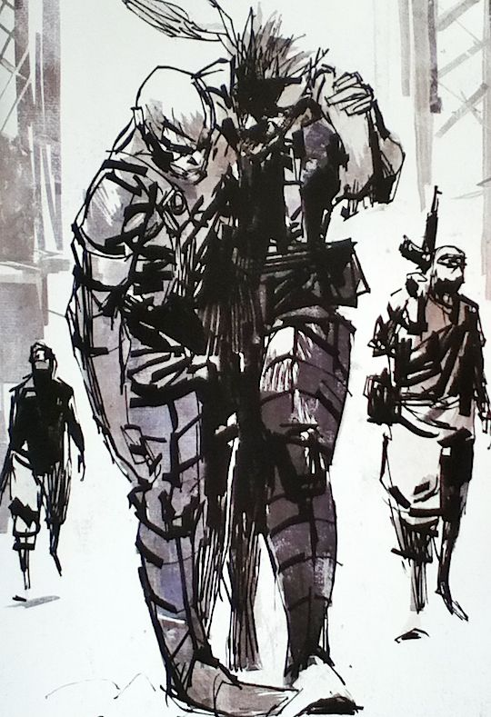 """escaped-ocelot: """" """"Metal Gear Solid: Portable Ops by Ashley Wood """" """""""