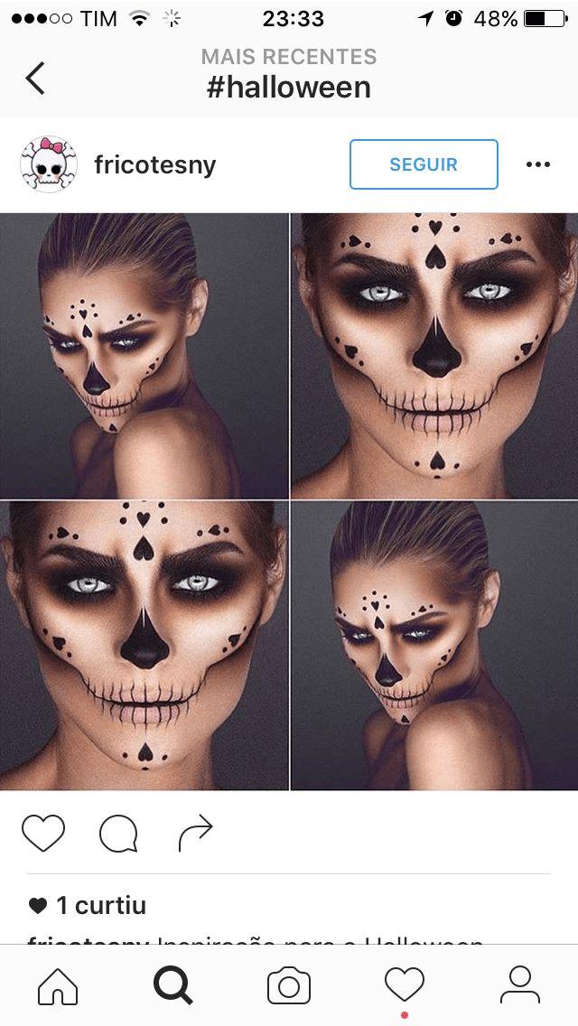 Dicas de maquiagem para dia de Los Muertos. Para você se inspirar e arrasar na produção para as festas também de Halloween, dia das Bruxas.