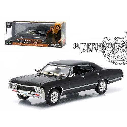 """1967 Chevrolet Impala Sports Sedan """"Supernatural"""" (TV Series 2005) 1/43 Diecast Model Car by Greenlight"""