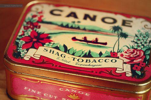 Old danish tobacco box