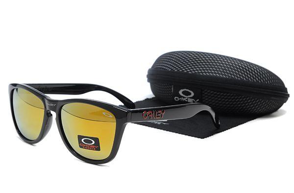 $8.99 Daily Deal Oakley Frogskins Sunglasses Black Frame Gradient Orange Lens www.sportsdealextreme.com