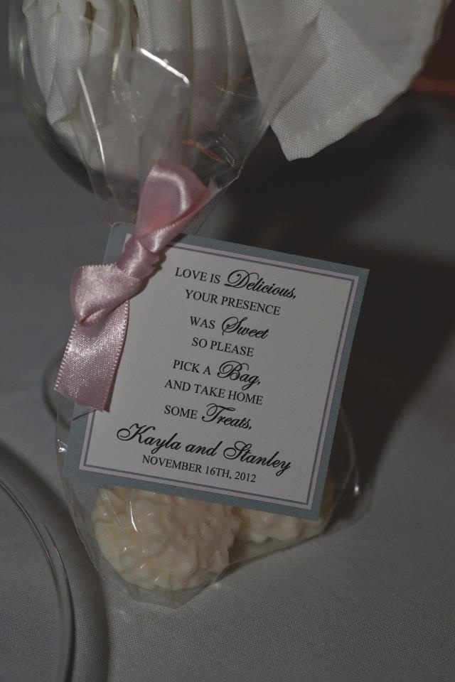 Treats for the Guest #wedding #goodie bags
