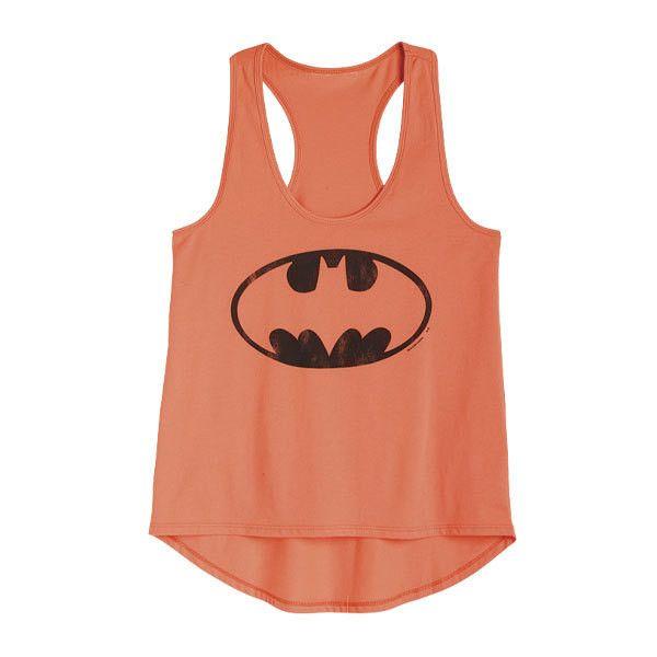 DC Comics Neon Batman Tank ($13) ❤ liked on Polyvore featuring tops, shirts, tank tops, tanks, batman, graphic tees, neon shirts, neon tops, red shirt and dc shoes shirt
