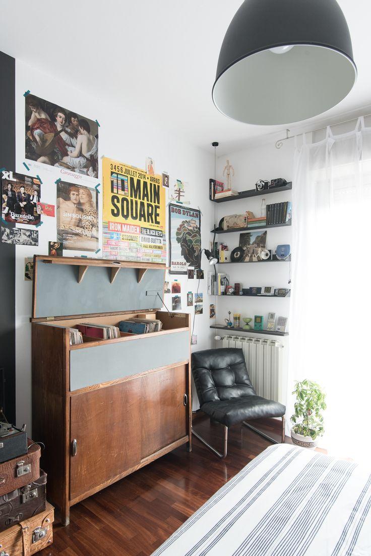 ... camera da letto vintage, Camera vintage e Mensole per camera da letto