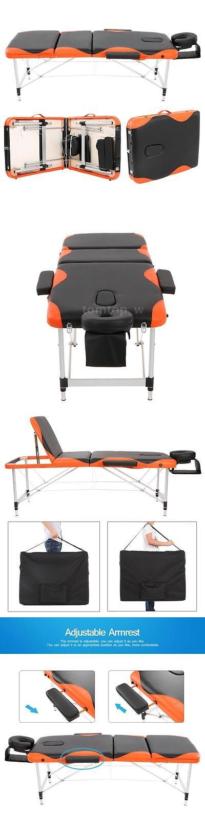 Massage Tables and Chairs: Black 2 Pad 73 Massage Table Folding Aluminium Alloy Waterproof U7t1 -> BUY IT NOW ONLY: $82.11 on eBay!