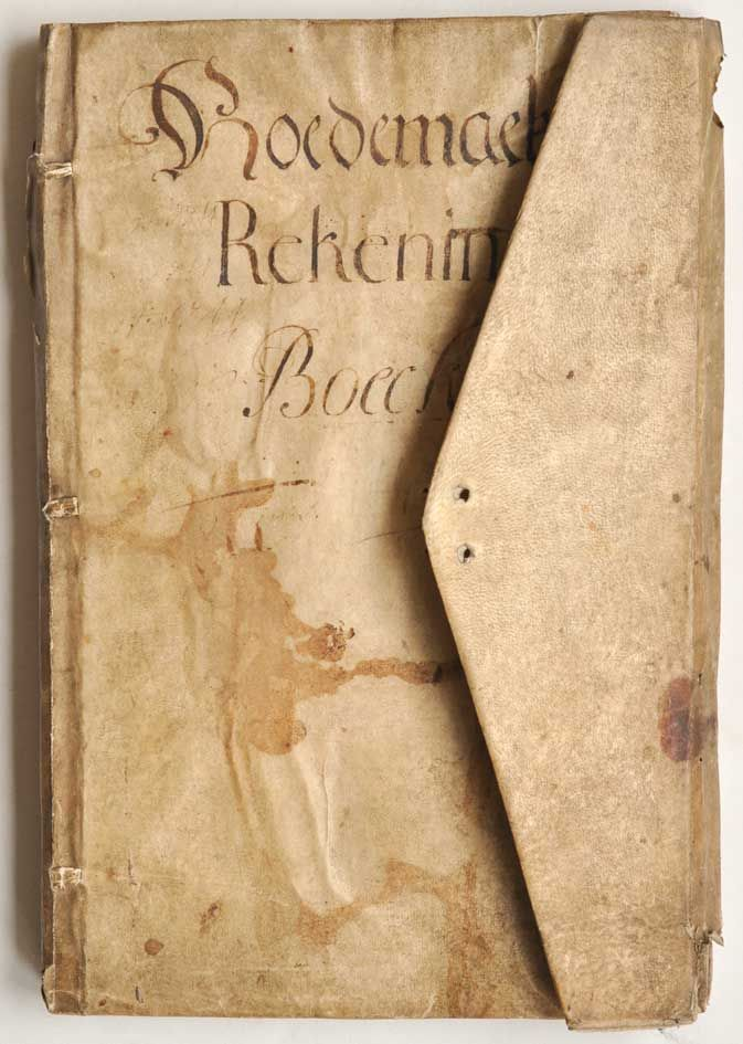 A Flemish account book in wallet-style binding