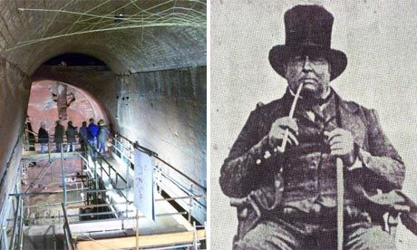 secret tunnels under Liverpool  in Edge Hill,built by unemployed men post WW1 and leading - nowhere !