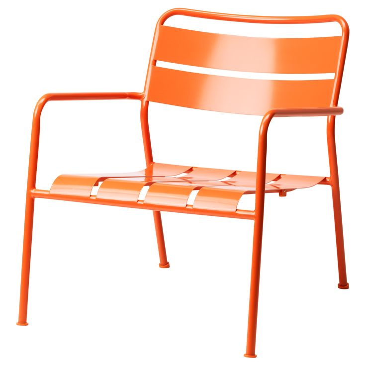 Love this pop of color. If it rusts, you can just sand it and hit it with a Rustoleum spray paint