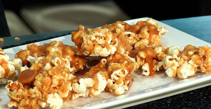 Receta. Palomitas de maíz con caramelo.