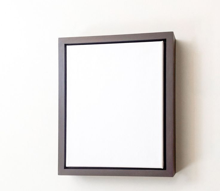 Warm Gray Canvas Frame. Floater frames work best with gallery wrapped canvases - this frame comes custom fitted to the artwork and with securing hardware to make placing and interchanging a canvas simple.