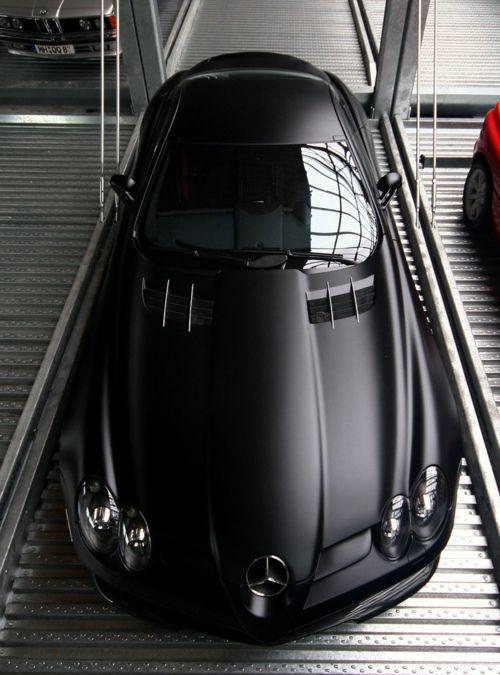SLR McLaren: Mercedes Benz, Mercedesbenz, Sports Cars, Bats, Cool Cars, Matte Black, Merc Benz, Matteblack, Black Cars