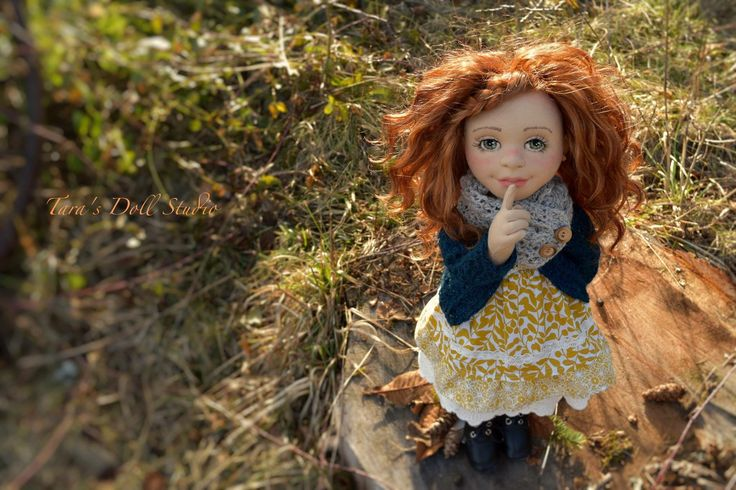 """Aurora""-18"" OOAK Natural Fiber Art Doll by Tara's Doll Studio"