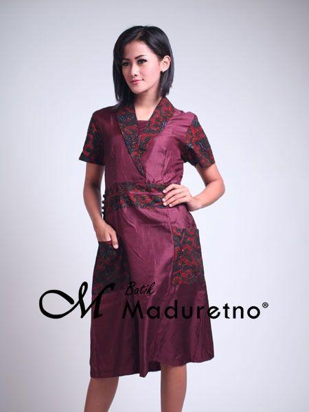 Sort Dress Pesta Batik Elegan