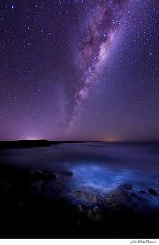 Australia - Milky Way over the Southern Ocean | See more about milky way and australia.