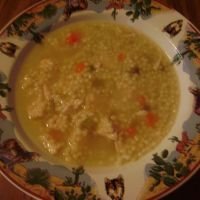 Chicken Pasta Soup with acini di pepe