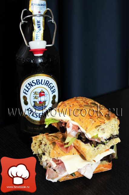 HowICook: Сэндвич с моцареллой и прошутто крудо