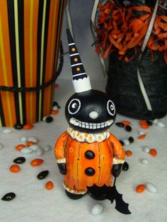halloween hooligan folk art doll