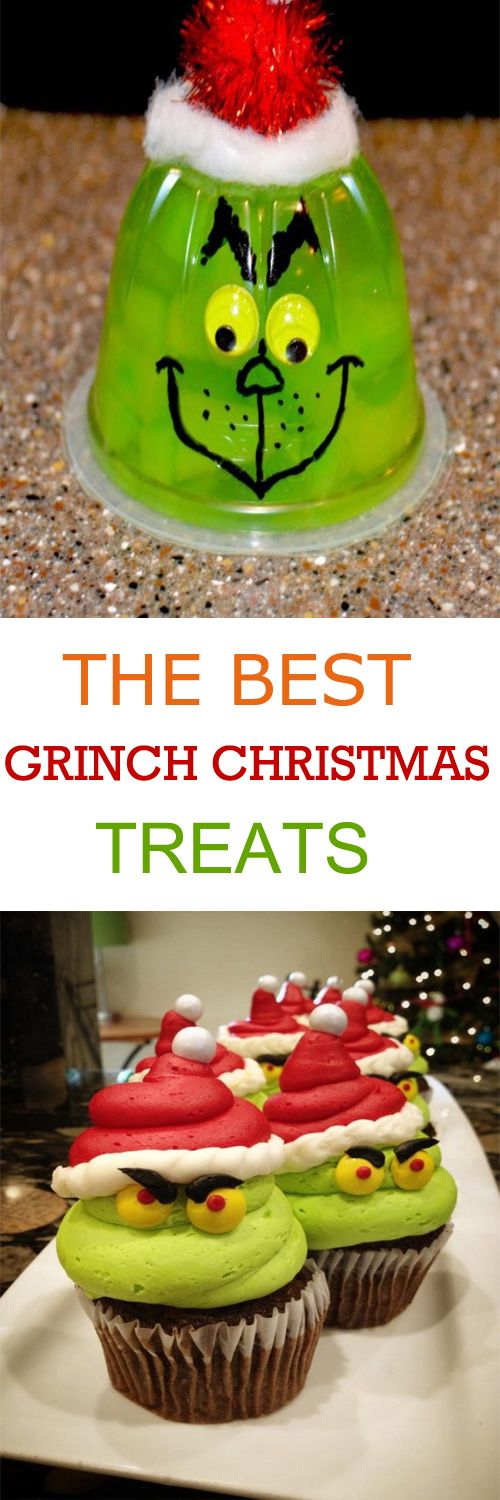 THE BEST GRINCH CHRISTMAS TREATS FOR YOUR CHRISTMAS PARTY..