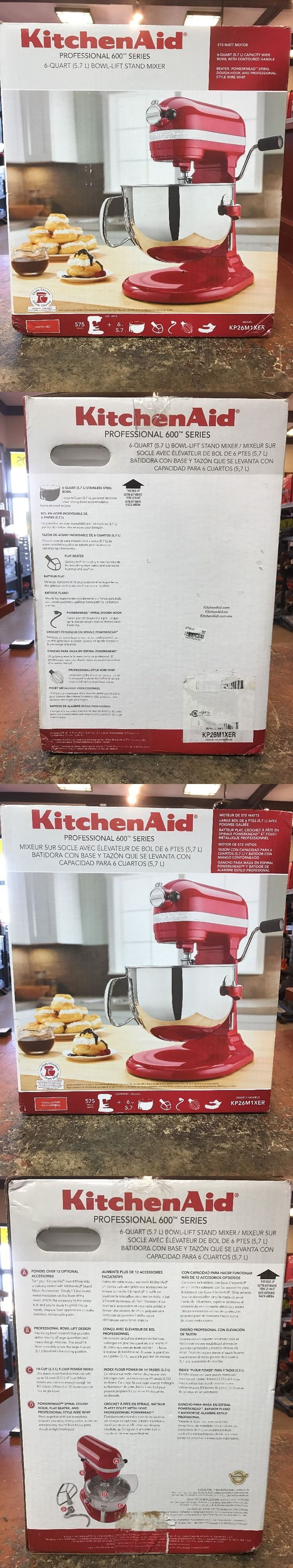 Mixers Countertop 133701: New Kitchenaid Pro 600 6Qt Professional Stand Mixer Kitchen Aid Kp26m1xer -> BUY IT NOW ONLY: $299.95 on eBay!