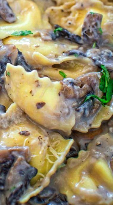 Creamy Mushroom Ravioli