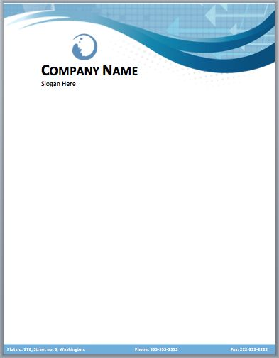 Business Company Letterhead Template - Free small, medium and large images – IzzitSO