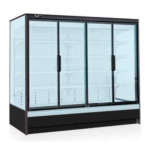 Welcome To Buy Ceviant Split Compressor 4 Glass Door Freezer Supermarket Upright Display Refrigerator For Beverage Display Refrigerator Glass Door Milk Display