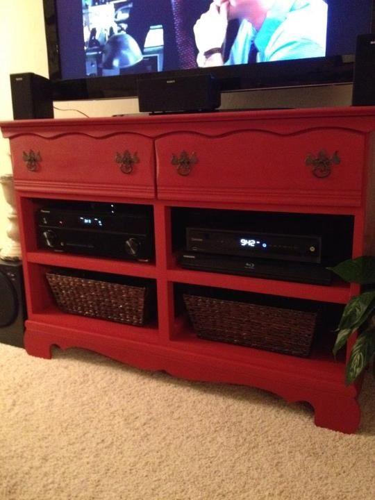 dresser to entertainment center