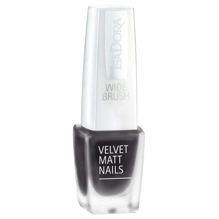 IsaDora Velvet Matt Nails, Black Caviar