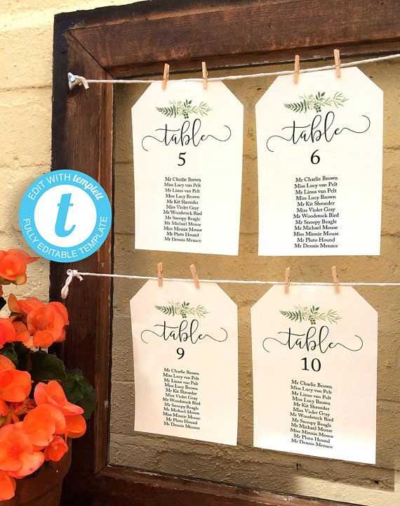 Rustic Greenery Wedding Seating Chart Diy Printable Table Plan Wedding Reception Seat Reception Seating Chart Seating Chart Wedding Wedding Reception Seating