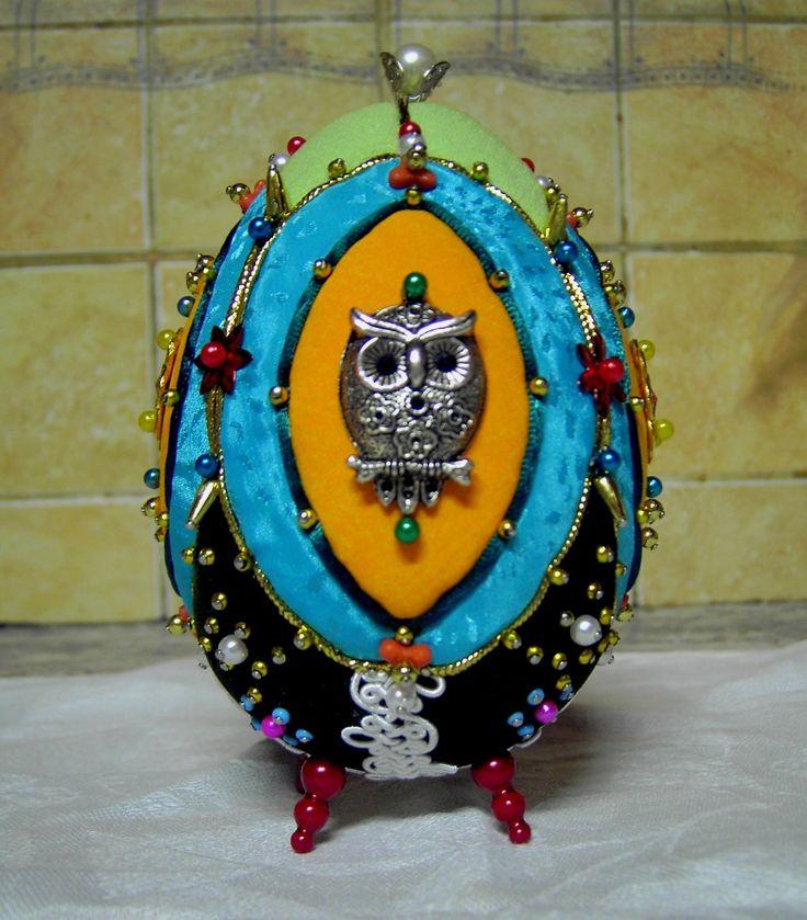 dekoračné vajko sova